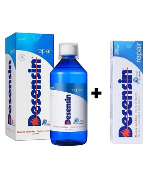 DESENSIN REPAIR PASTA DENTAL + COLUTORIO  PACK 75 ML+500 ML
