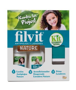 FILVIT KIT NATURE ANTIPARASITARIA LOCION + ACONDICIONADOR 125 ML + 125 ML