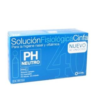 CINFA SOLUCION FISIOLOGICA  MONODOSIS 5 ML 40 U