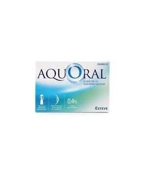 AQUORAL GOTAS OFTALMICAS LUBRICANTES ESTERIL AC HIALURONICO 0.4% MONODOSIS 0.5 ML 20 U