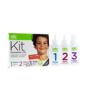 OTC ANTIPIOJOS KIT1 2 3  PERMETRINA (LOCION, ACONDICIONADOR, SPRAY REPELENTE) 125ML X 3UNDS