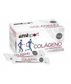 COLAGENO CON MAGNESIO AMLAJUSTICIA SPORT + VIT C  STICKS  20 STICKS