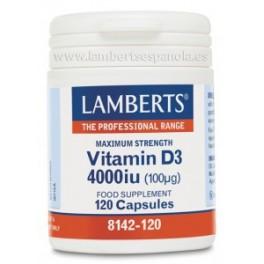 LAMBERTS VITAMINA D3 4000 UI 120 CAP