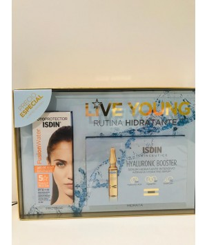 ISDIN PACK PHOTOAGING FUSION WATER + HYALURONIC BOOSTER 5 AMPOLLAS